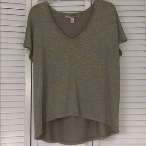 Forever 21 High/Low Green V-Neck